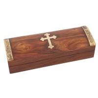 Relikviár drevený s mosadznými prvkami 04
