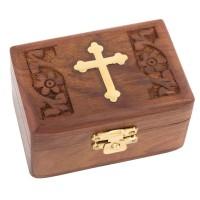 Relikviár drevený s mosadznými prvkami 10