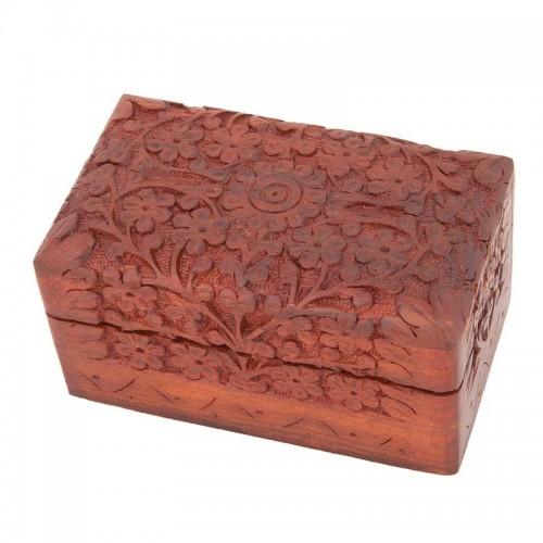 Relikviár drevený gravírovaný 01