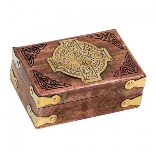 Relikviár drevený gravírovaný 02