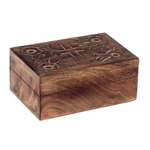 Relikviár drevený gravírovaný 03
