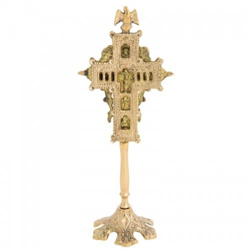 Kríž mosadzný obojstranný