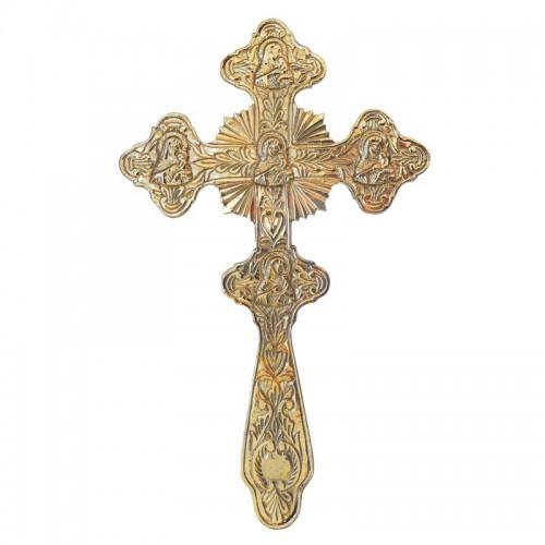 Kríž mosadzný gravírovaný ručný veľký