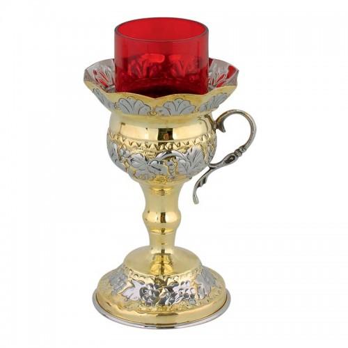 Lampáda oltárna dvojfarebná (mosadz nikel) veľká 03
