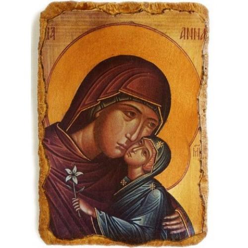 Fragment z ikony sv. Anny