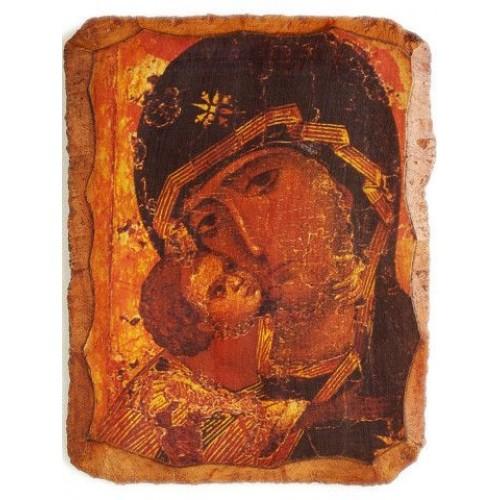 Fragment ikony Vladimírskej Bohorodičky