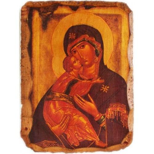 Fragment z ikony Vyšhorodskej Bohorodičk