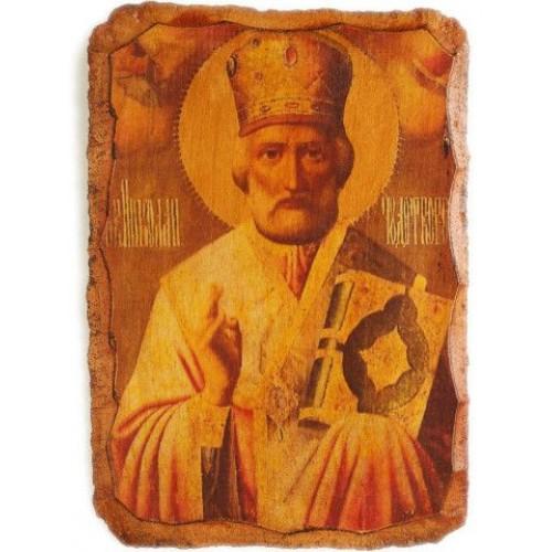 Fragment z ikony sv. Mikuláša