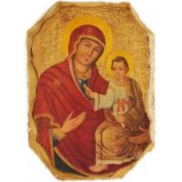 Fragment z ikony Bohorodičky - Brány mil