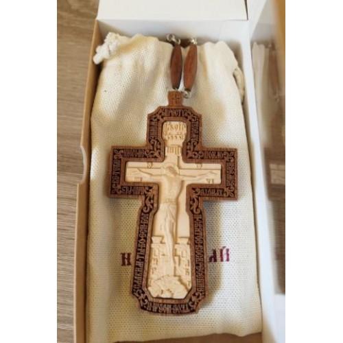 Kňazský kríž No3 (drevený-dvojfarebný)