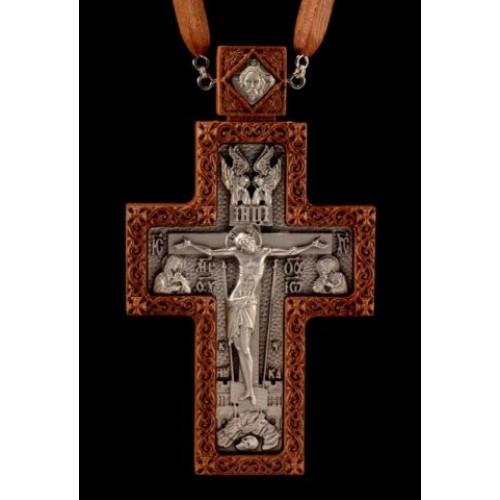 Kňazský kríž No4 (dreveno-strieborný)