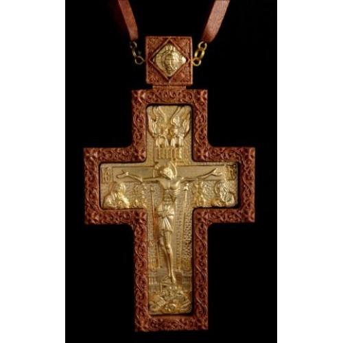 Kňazský kríž No7 (dreveno-zlatý)