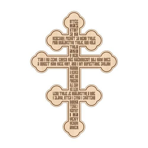 Kríž s modlitbou Otče náš, vzor 1 - slovenčina