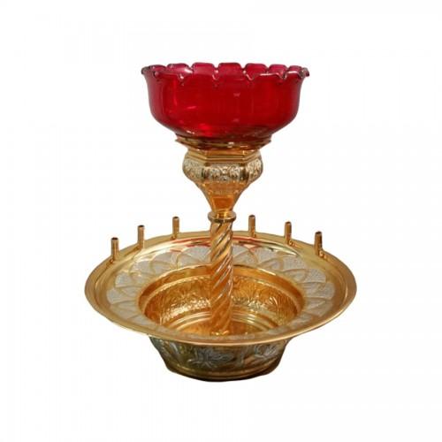 Lampáda oltárna s nádobou na olej, vzor 1