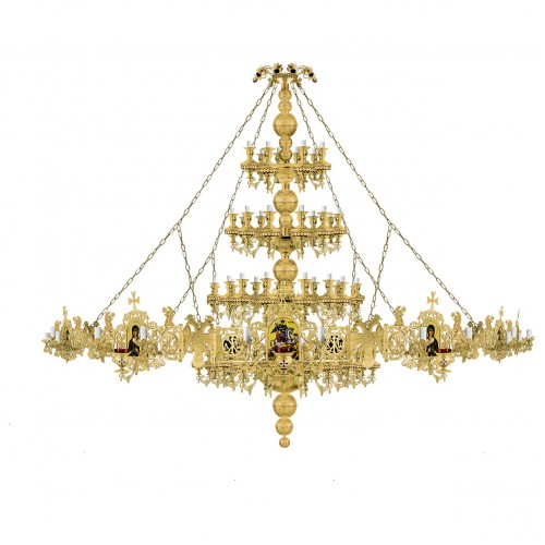 Luster s chorosom, vzor 63,  100 žiaroviek (Mount Athos)