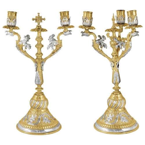 Biskupské svietniky (dikirion, trikirion), verzia 1