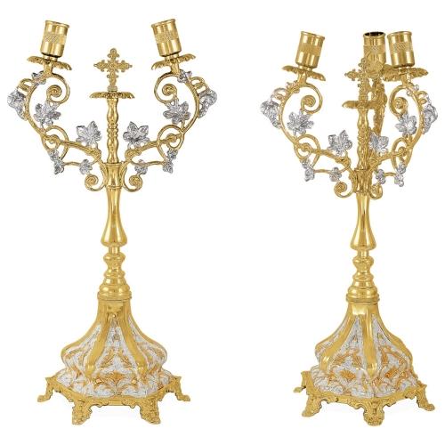 Biskupské svietniky (dikirion, trikirion), verzia 3