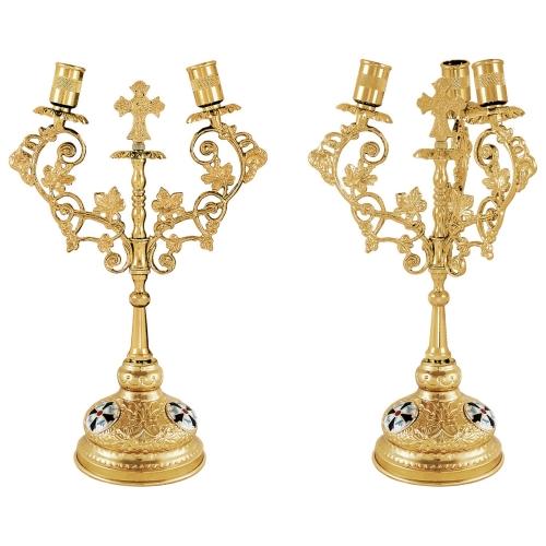 Biskupské svietniky (dikirion, trikirion), verzia 8