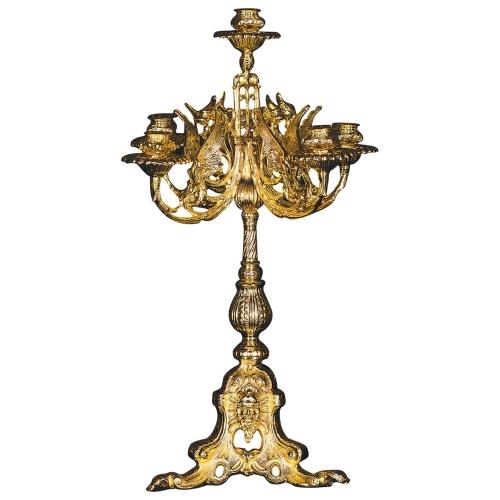 Oltárny svietnik - päťramenný, verzia 8