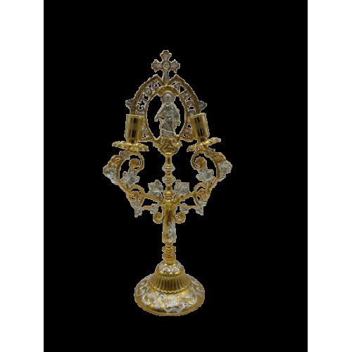 Oltárny svietnik - trojramenný, verzia 1