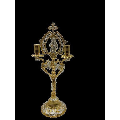 Oltárny svietnik - trojramenný, verzia 2