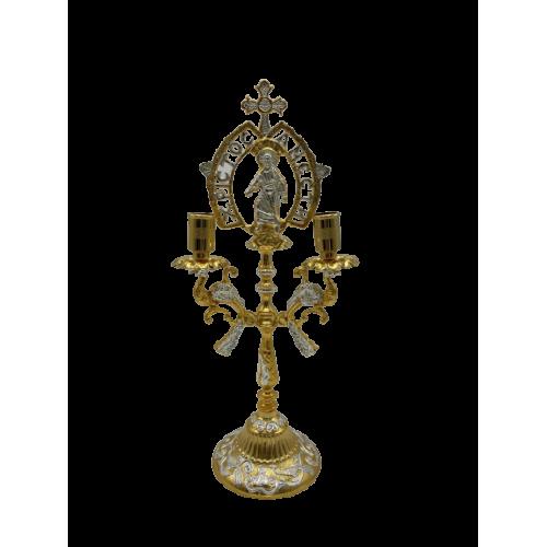 Oltárny svietnik - trojramenný, verzia 4