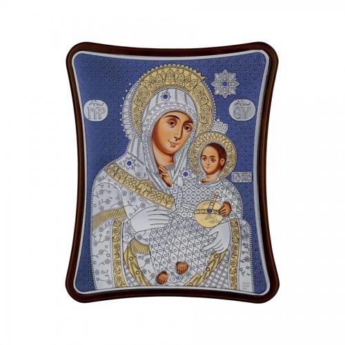 Strieborná ikona - Betlehemská Bohorodička