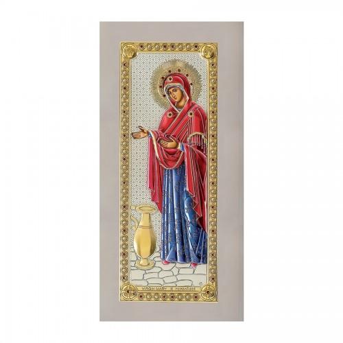 Strieborná ikona - Bohorodička Gerontissa, vzor 1