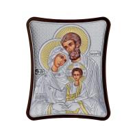 Strieborná ikona - Svätá Rodina, vzor 1