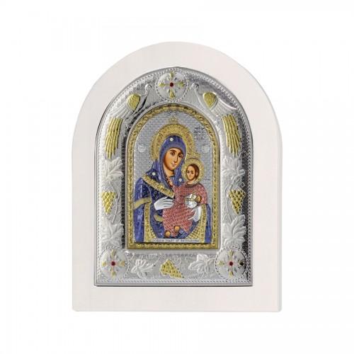 Strieborná ikona - Betlehemská Bohorodička, vzor 2