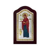 Strieborná ikona - Bohorodička Gerontissa, vzor 2