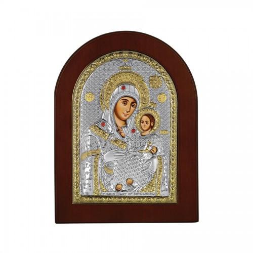 Strieborná ikona - Betlehemská Bohorodička, vzor 1