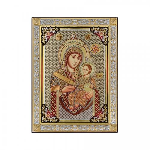 Strieborná ikona - Betlehemská Bohorodička, vzor 3