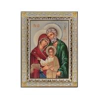 Strieborná ikona - Svätá Rodina, vzor 2