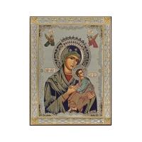 Strieborná ikona - Bohorodičky Amolyntos, vzor 3