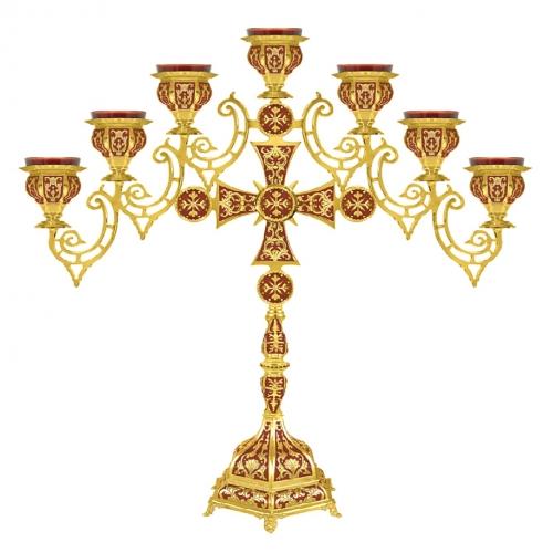 Sedemramenná lampáda - sedemsvietnik, vzor 3