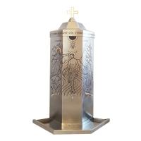Nádoba na svätenú vodu nerezová 250l osemstenná